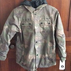 Size 14 big boys ski camo jacket NEW WITH TAGS